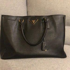 Black Prada saffiano bag. Used.